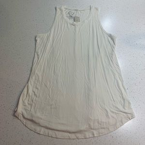 Maurice's 24/7 super soft off-white tank